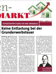 Hentschel & Co. Expertentipp im Markt am Samstag. Heute mit einem politischen Immobilien-Thema!